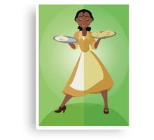 Symmetrical Princesses: Tiana Canvas Print