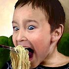 "Noodle Mayhem...or ""Don't Laugh When Your Mouth's Full!"" by sirthomas1960"
