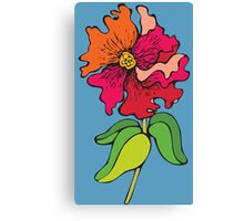 Watercolor colorful flower Canvas Print