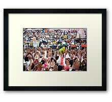 Haridwar:Its time for big Aarti Framed Print