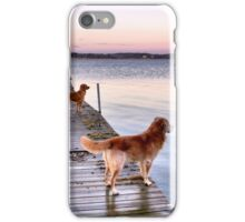 Sunset dogs iPhone Case/Skin