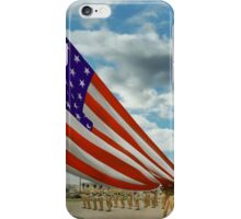 Americana - Fort Hood Texas - Unfolding the flag 1944 iPhone Case/Skin