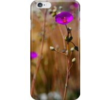 Purple Wild Flower Photo iPhone Case/Skin