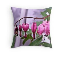 Hearts on a String Throw Pillow
