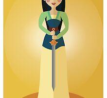 Symmetrical Princesses: Mulan by Jennifer Mark