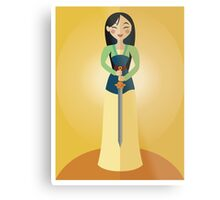 Symmetrical Princesses: Mulan Metal Print