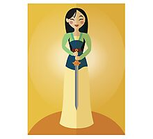Symmetrical Princesses: Mulan Photographic Print