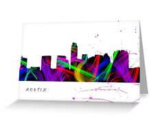 Austin Skyline Watercolor Art Greeting Card