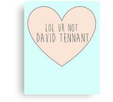 Lol ur not David Tennant Canvas Print