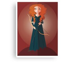Symmetrical Princesses: Merida Canvas Print