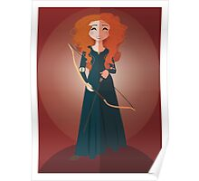 Symmetrical Princesses: Merida Poster