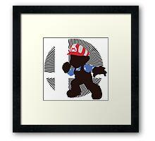 Mario ('Merica) - Sunset Shores Framed Print