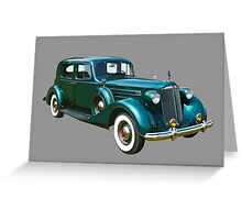 Green Packard Luxury Car Greeting Card