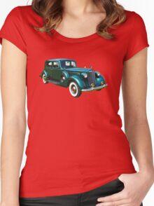 Green Packard Luxury Car Women's Fitted Scoop T-Shirt