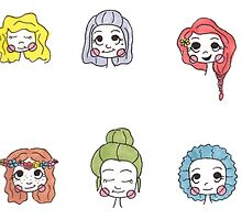 Girl Stickers by happysoul