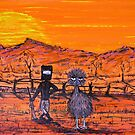 "ORIGINAL Acrylic  Australian Painting ""Ned Kelly's Mate""  EJCairns; SOLD by EJCairns"