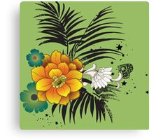 Beautiful yellow and green flowers  Canvas Print