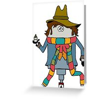 The Fourth Doctor Greeting Card