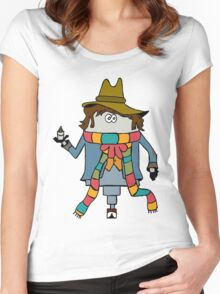 The Fourth Doctor Women's Fitted Scoop T-Shirt