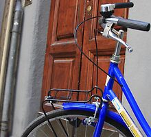 Blue bike in Florence by shilohrachelle