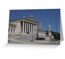 Parlament, Wien Österreich Greeting Card