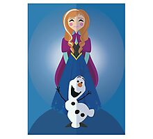 Symmetrical Princesses: Anna Photographic Print