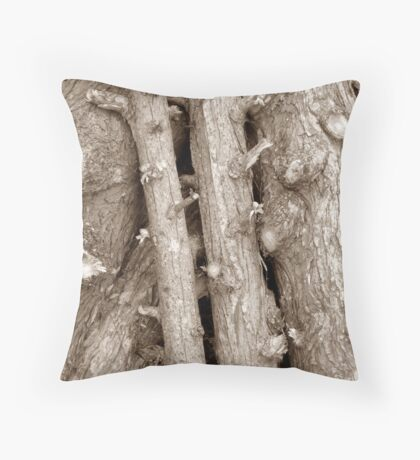 Tree Logs Throw Pillow