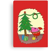 PiGgy is ready for Christmas! Canvas Print