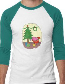 PiGgy is ready for Christmas! Men's Baseball ¾ T-Shirt
