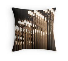 Lights At the Los Angeles Museum of Art 0773 Throw Pillow
