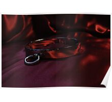 Slave Collar on Red  Poster