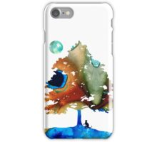 Determination - Colorful Cat Art Painting iPhone Case/Skin