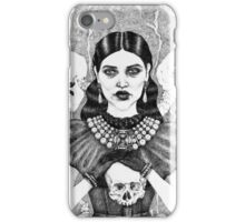 Death & Her Friends - Uncoloured iPhone Case/Skin