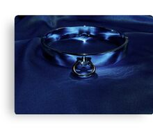 Slave Collar on Blue  Canvas Print