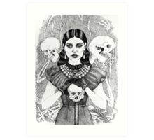 Death & Her Friends - Uncoloured Art Print