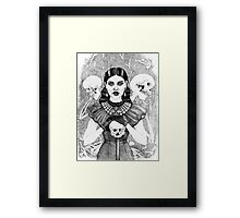 Death & Her Friends - Uncoloured Framed Print