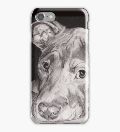 """""""Thai"""" the Red-nose American Pitbull Terrier iPhone Case/Skin"""