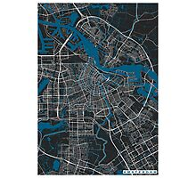 Amsterdam city map black colour Photographic Print