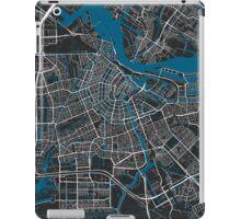 Amsterdam city map black colour iPad Case/Skin