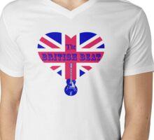 The British Beat Music Mens V-Neck T-Shirt