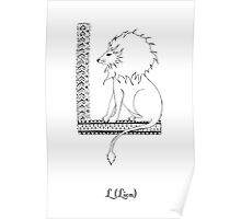 L is for Lion Poster