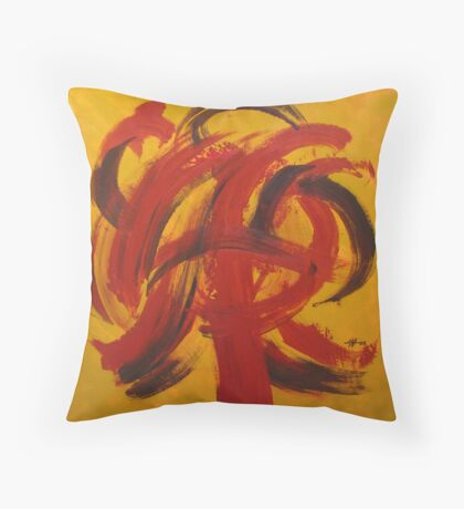 The Dance of the Brush Throw Pillow