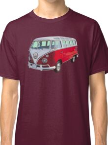 Red And White VW 21 window Mini Bus Classic T-Shirt