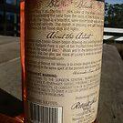 Blazin' Blush wine label (back view) by louisegreen