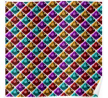 DUNGEON MASTER: 'No Damage' Pattern (White) Poster