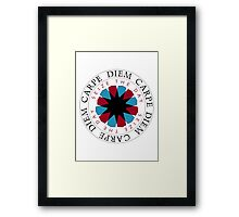 Carpe Diem Slogan Framed Print