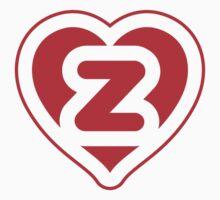 Heart Z letter One Piece - Short Sleeve