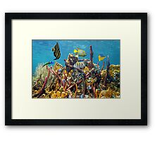 Coral reef underwater colors Framed Print