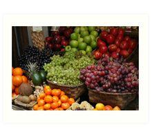 Fabulously Fruity Basket Art Print