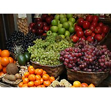 Fabulously Fruity Basket Photographic Print